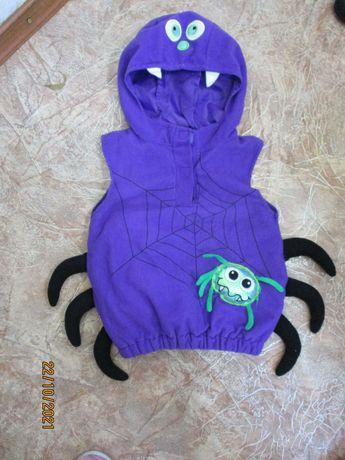 Тёпленькая жилеточка паук/паучок/хэллоуин halloween 1-3 года