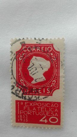 Selo 1°exposição filatelica Portuguesa 1935