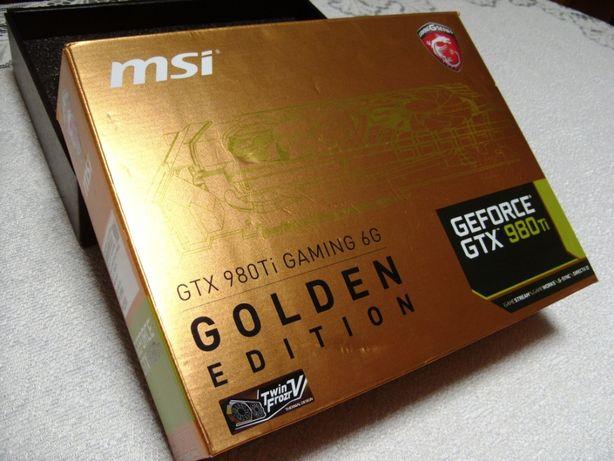 GeForce MSI GTX 980Ti 6G Golden Edition -pudełko sterowniki instrukcja