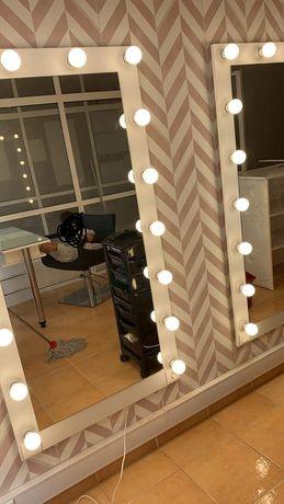 Espelhos de maquilhagem led