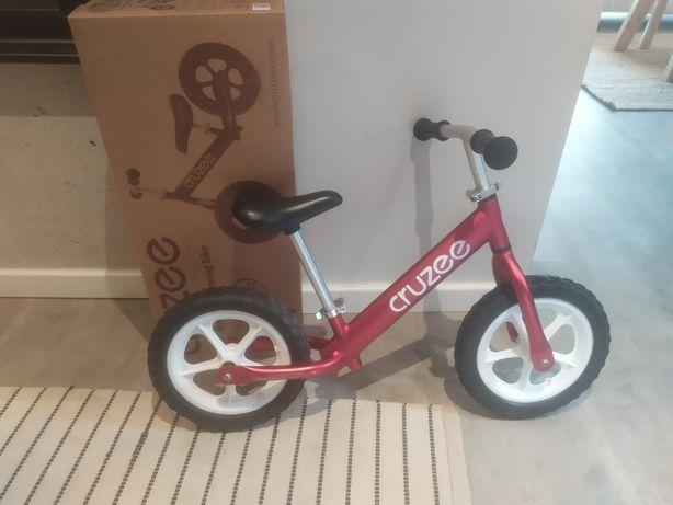 Cruzee Rowerek dla dziecka biegowy 12 cali czerwony białe koła