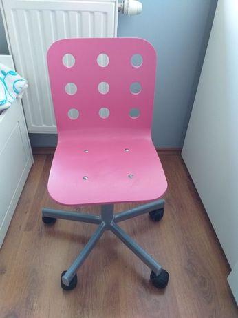IKEA JULES dziecięce krzesło biurowe kolor różowy/szary od 4 do 12 lat