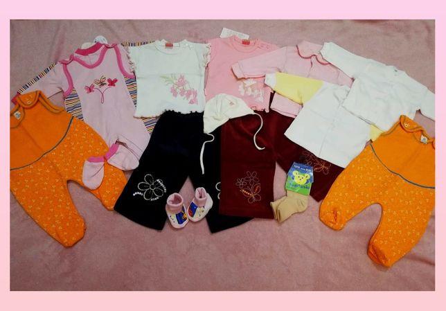 SUPER NOWA MEGA PAKA!!! zestaw nowych ubranek niemowlęcych 56-62