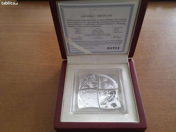 Monety 4x10 złotych z okazji EURO 2012