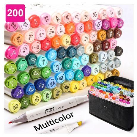 Набор спиртовых маркеров Touch для рисования и скетчинга 200 цветов