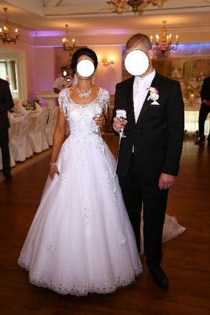Suknia ślubna piękna z trenem