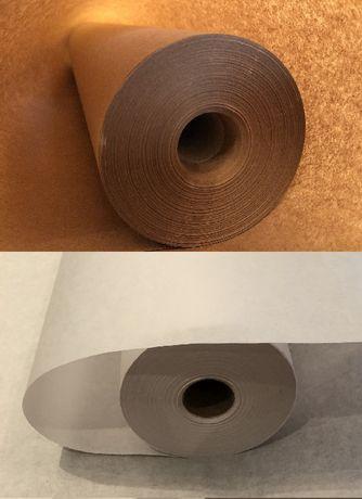 Крафт бумага белая и коричневая тонкая 40 г/м2, в рулонах 60-62 см