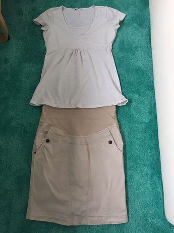 Zestaw ciazowy : bluzka plus spódnica