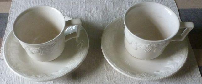 Dwie angielskie firmowe filiżanki wraz ze spodkiem Bhs, poj 250 ml