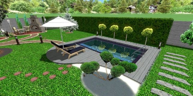 Ландшафтное проектирование , дизайн , озеленение. Реконструкция.