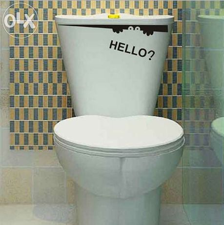 Autocolante design vinil p/ casa de banho wc sanitas
