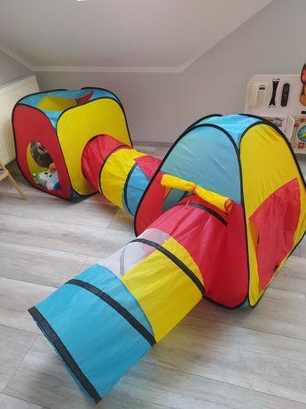 Namioty z tunelami dla dzieci