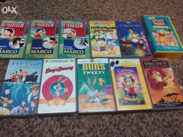 Lote de cassetes antigas VHS