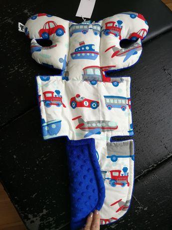 Wkładka z zagłówkiem do nosidełka dla niemowlaka