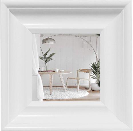 OUTLET - lustro lusterko kwadratowe białe stylowe 35x35 cm