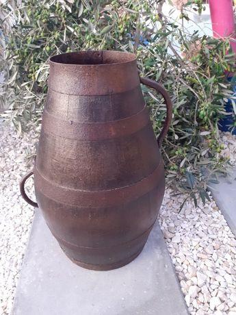 Pote de madeira Adega de uvas vinho ou azeite cântaro leite