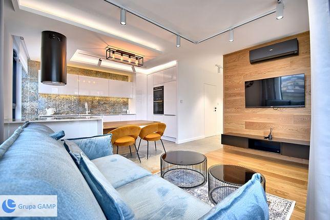 Nowy, 3- pok apartament z klimatyzacją i widokiem na Wisłę, 65 m2