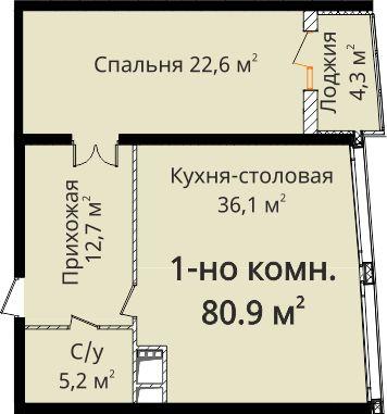 """ЖК """"Новый берег"""" Квартира + кладовка"""