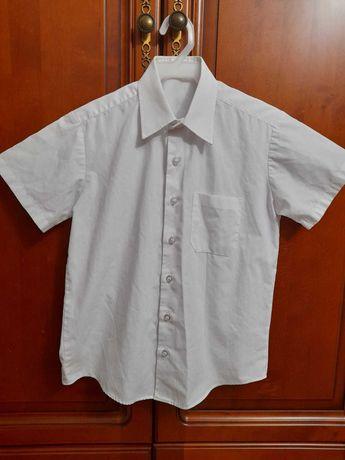 Рубашка белая George короткий рукав размер 8-9 лет рост 134см