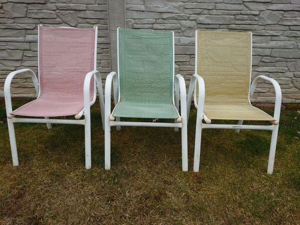 Fajne Dziecięce metalowe krzesła do ogrodu na werandę lub do zdjęć
