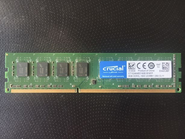 Crucial CT102464BD160B.M16FP 8Gb DDR3L PC3L-1600MHz 1.35v CL11