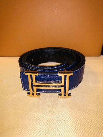 Cinto Hermes Azul / Preto