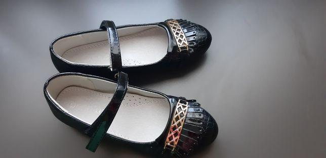 Lakierki, pantofelki, buty, baleriny czarne 20,5 cm wkładka. NOWE