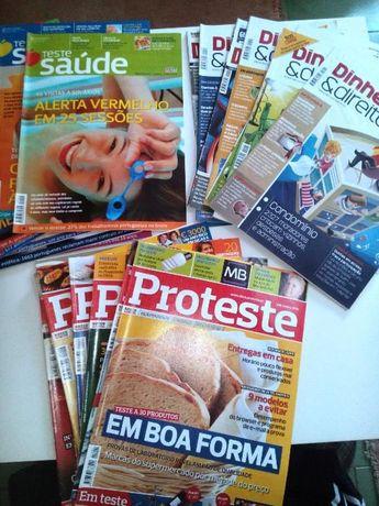 Conjunto de revistas PROTESTE, dinheiro e direitos, proteste saude