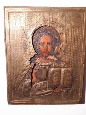 Старинная икон Господь Вседержитель