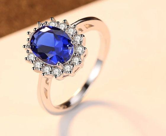 Srebrny piękny pierścionek CzCity zaręczyny ślub