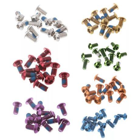 Parafusos coloridos para travão de disco MTB