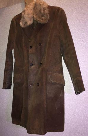 Дубленка натуральная мужская, утепленная куртка