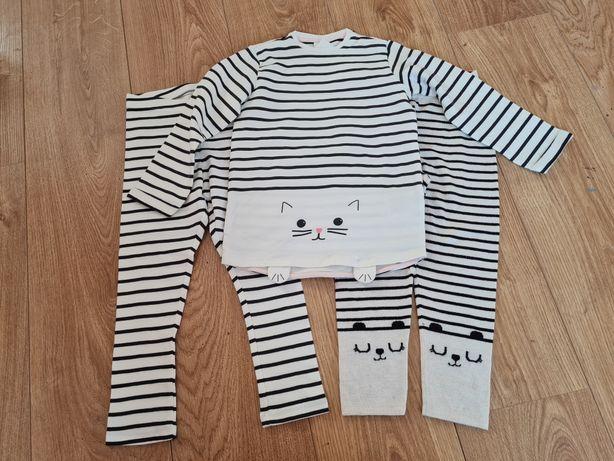 Zestaw H&M bluza, 2x legginsy 104, 3-4 lata NOWE