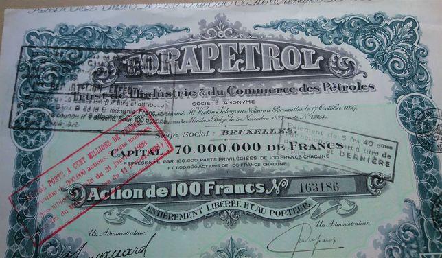 Certificado Ações- 1927 Romanian Oil - FORAPETROL
