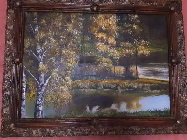 """Картина """" Осенний пейзаж"""" . Масло. Холст."""