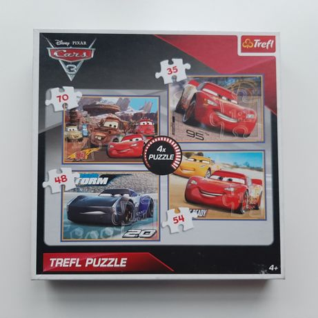 TREFL 4w1 Puzzle Cars Auta 4+, chłopiec, dziewczynka