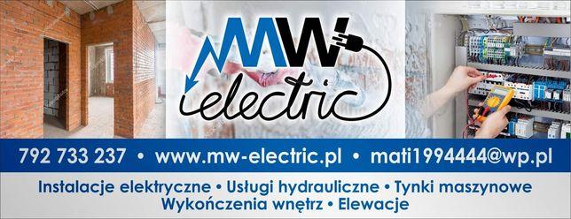 Elektryk Tynki maszynowe Regips Gładzie wykończenia wnętrz elewacje