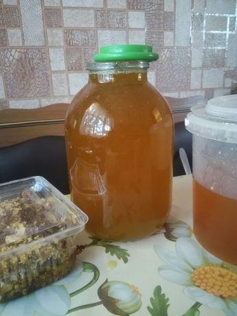 Мед подсолнечник+разнотравье и сотовый мед