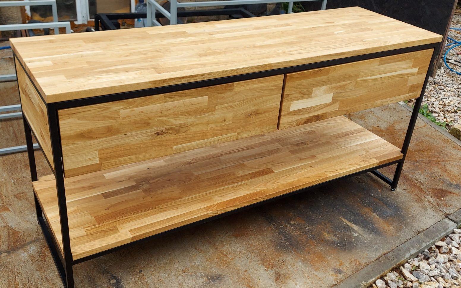 Szafka łazienkowa loft drewno dębowe z szufladą cichy domyk. Nowość