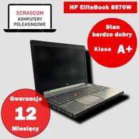 Laptop HP EliteBook 8570W i7 8GB 240GB SSD Win 10 GWAR 12 msc
