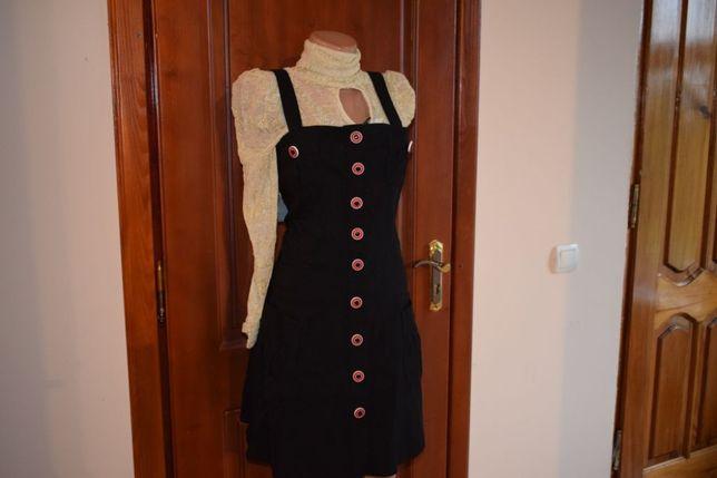 платье сарафан офисное черное 44