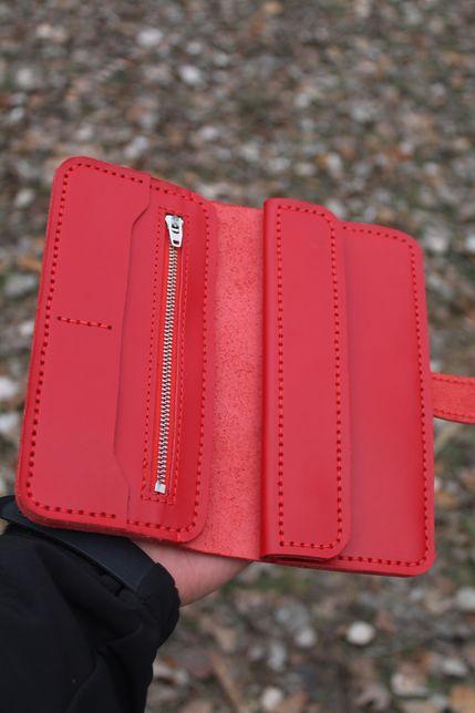 Женский кошелек портмоне из кожи crazy horse