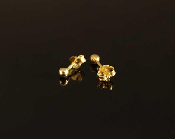 Złoto 585 - złote kolczyki kulki