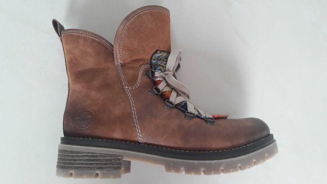 Rieker buty skórzane, ocieplane wełną owczą, nr 38