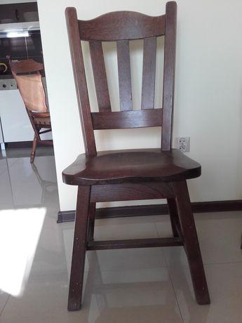 Krzesło drewniane, rustykalne x4