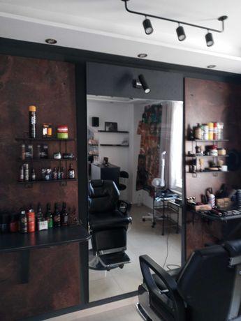 Stanowisko barberski/fryzjerskie myjnia,sofa, recepcja