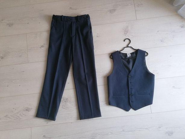 Sprzedam spodnie i kamizelkę r. 134