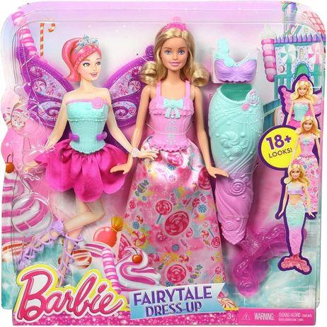 Набор кукла Барби и 3 наряда Принцесса, Фея и русалка Barbie Doll with