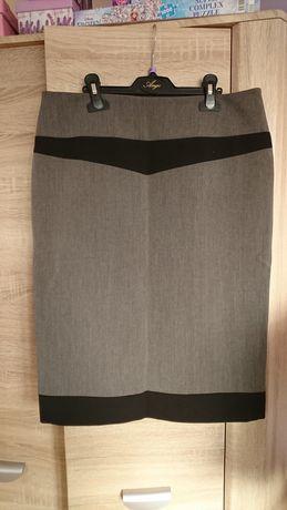 Szara czarna ołówkowa spódnica do kolan rozmiar 40/L
