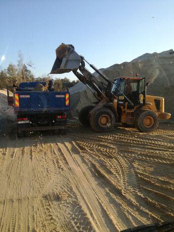 piasek kopany z transportem ,usługi transportowe wywrotką 4-osiową 8x6